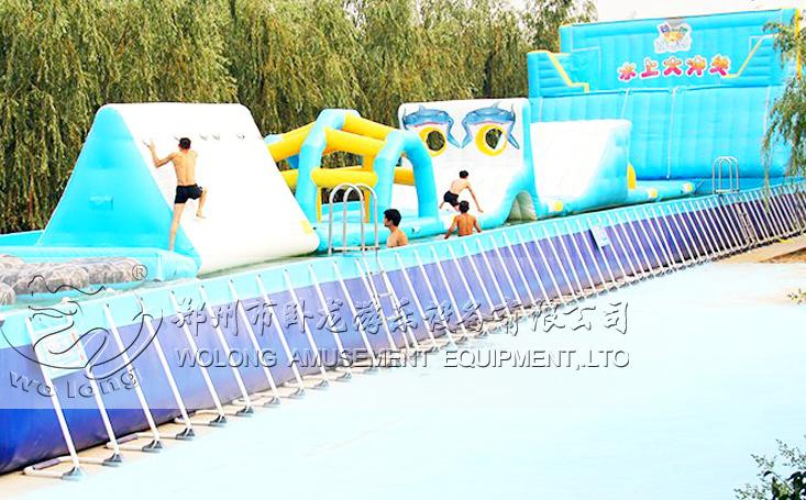 大型移动水上乐园项目合作水上闯关租赁
